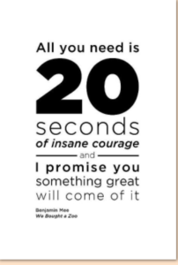 Het effect van 20 seconden lef - artikel Jade Mensgerichte Begeleiding